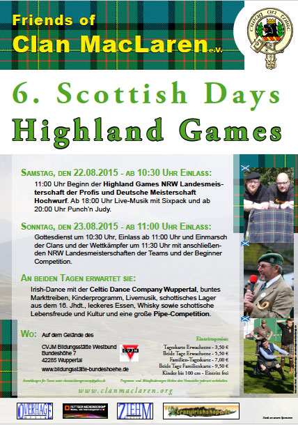 6. Scottish Days / Highland Games Wuppertal