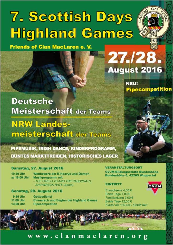 7. Scottish Days / Highland-Games 2016