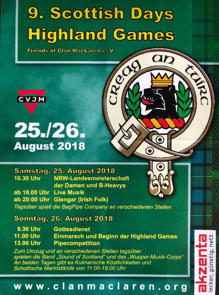 9. Highland Games in Wuppertal 2018